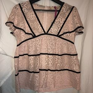 CHELSEA & VIOLET BABY DOLL BLOUSE